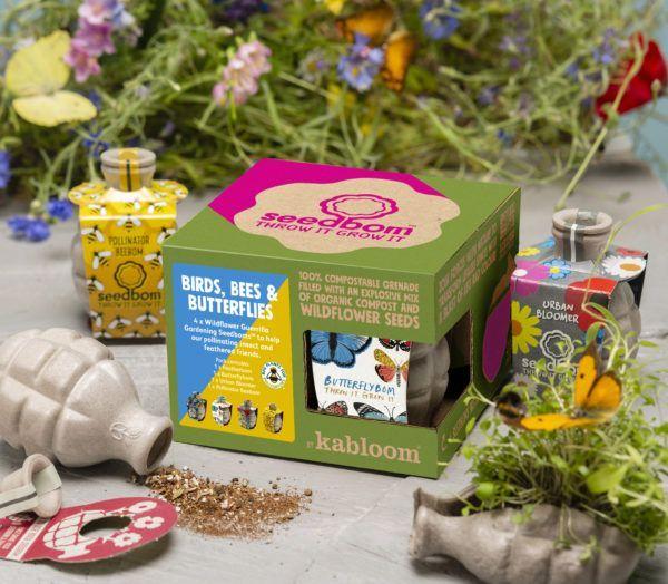 Birds, Bees & Butterflies Seedbom Gift Set