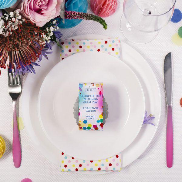 Colour Pop Wedding Favour Seedbom