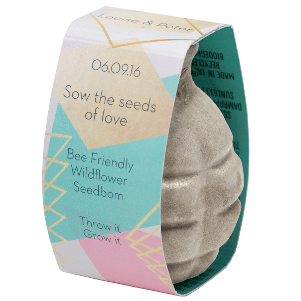 Geo Wedding Favour Seedbom