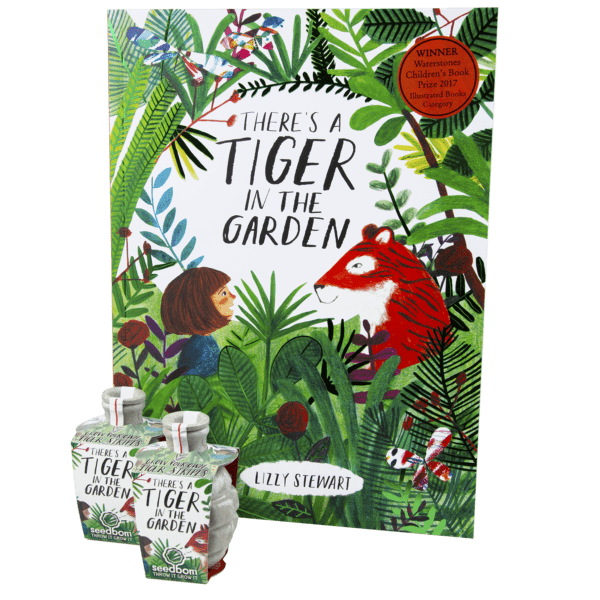 There's a Tiger in the Garden Book and Seedbom gift set